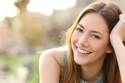 Beautiful Young Girl Happily Smiling